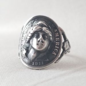 AbsolutelyGorgeous Edwardian LadyLiberty Coin Ring